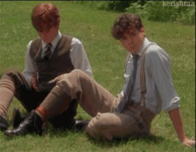 "And was so impressed when she and Diana beat him in a three-legged race that he GAVE HER THIS ADORABLE WINK. | 25 Times Gilbert Blythe From ""Anne Of Green Gables"" Melted Your Heart"
