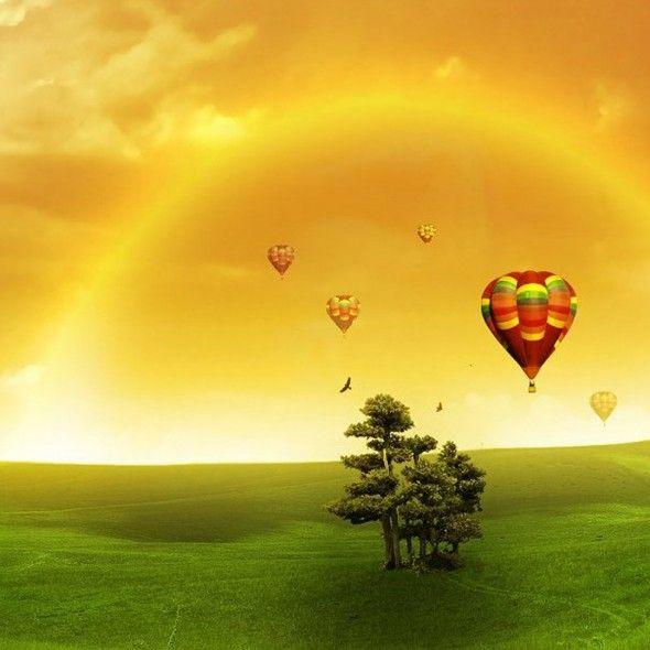 Rainbow Balloons Desire