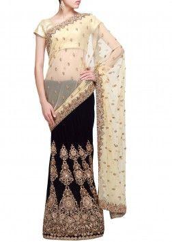 Buy latest lehenga sarees online, designer lehenga sarees, celebrity lehenga style sarees, embroidered lehenga sarees at best prices. Kalkifashion offers exclusive collection of lehenga sarees.