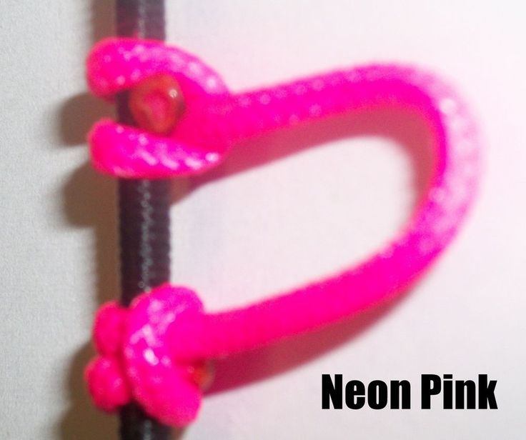 3 Pack Flo Pink Archery Release Bow String Nock D Loop Bowstring BCY #24