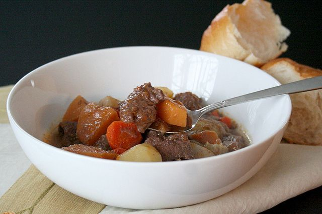 Winter Root Vegetable Beef Stew. With grassfed beef, winter root vegetables and homemade beef stock.