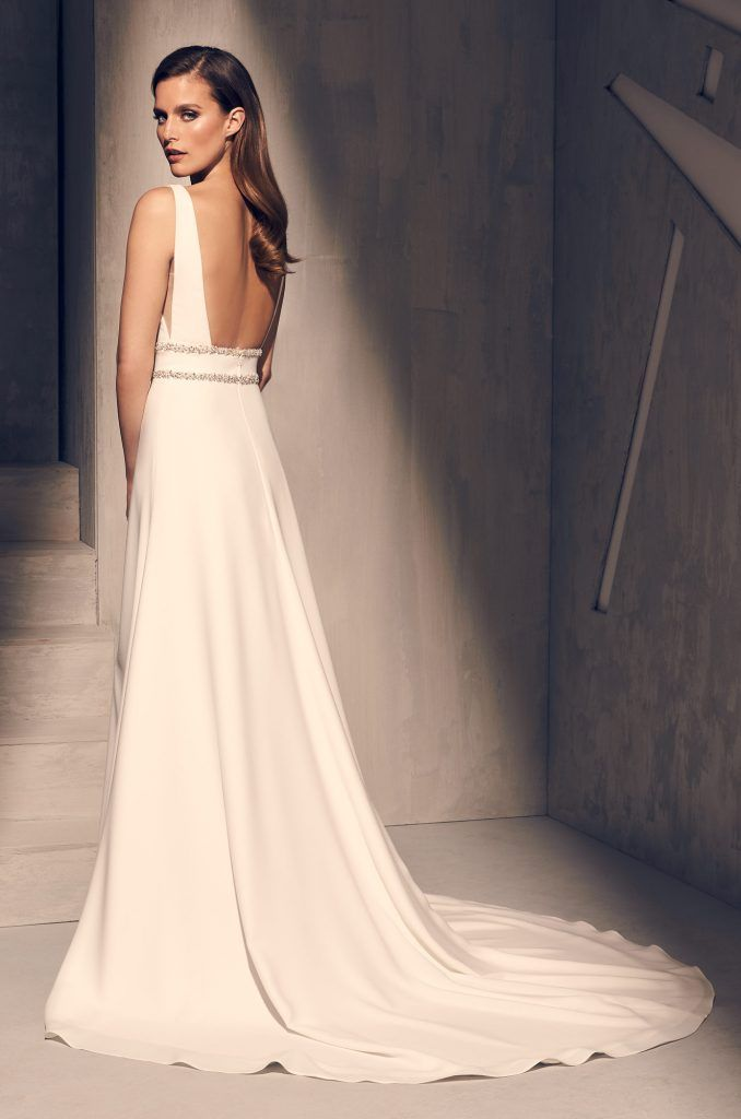 Dazzling Crepe Wedding Dress Style 2214 In 2020 Wedding