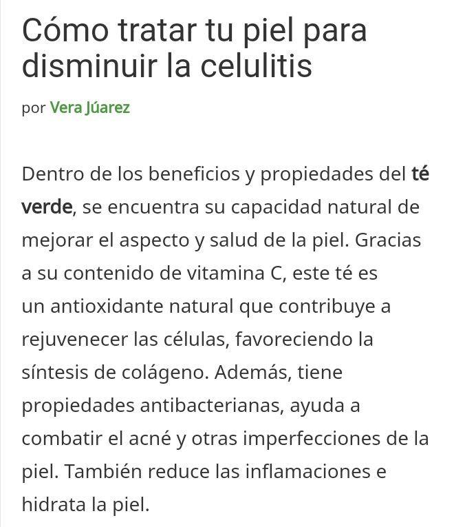 Té verde  Cellulitis