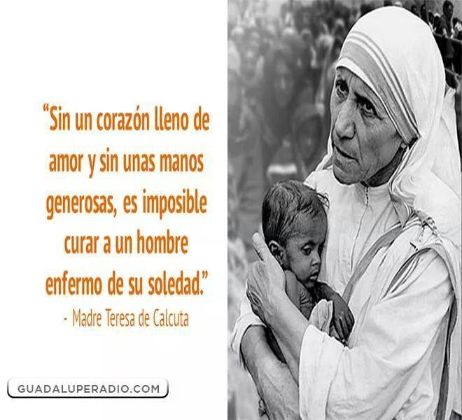 Madre Teresa De Calcuta Frases Pinterest Mother Teresa Quotes