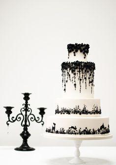 Black Lace Wedding Cake Wedding Cakes Pinterest Lace