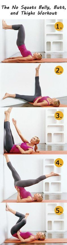 The No Squats Belly, Butt, and Thighs Workout. Fast  easy little exercise circuithttp://pinterest.com/pin/100557004153909576/