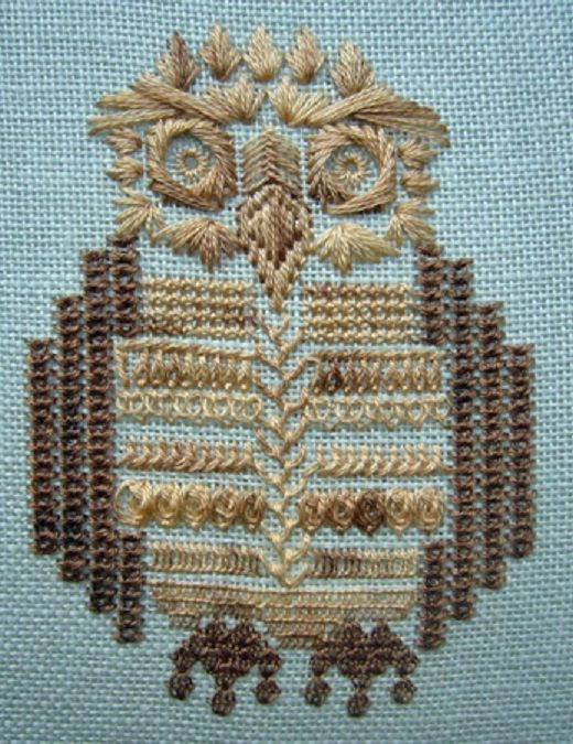 wessex embroidery owl