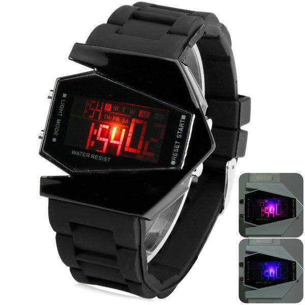 <b>Sanda</b> P028G <b>Military Men</b> Auto Digital Watch Rectangular Dial ...
