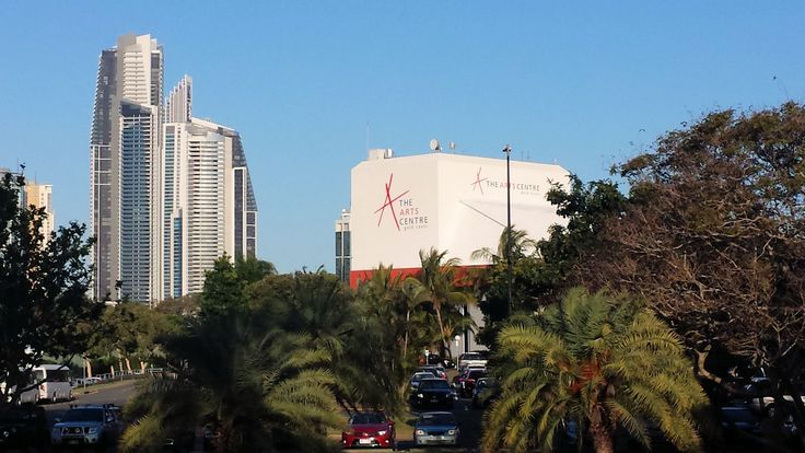 View of Arts Centre Gold Coast from Bundall Road.