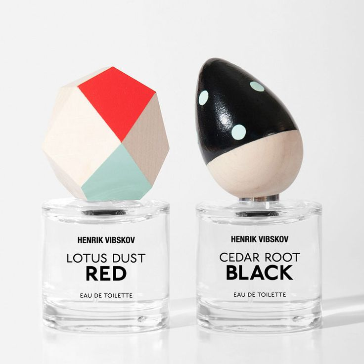 Henrik Vibskov fragrance packaging concept & design by Paper Beat Rock #paperbeatrock #pbr #designbureau #copenhagen #henrikvibskov #fragrance #perfume #packaging #bottle #handmade #wood #paint #colour #craft