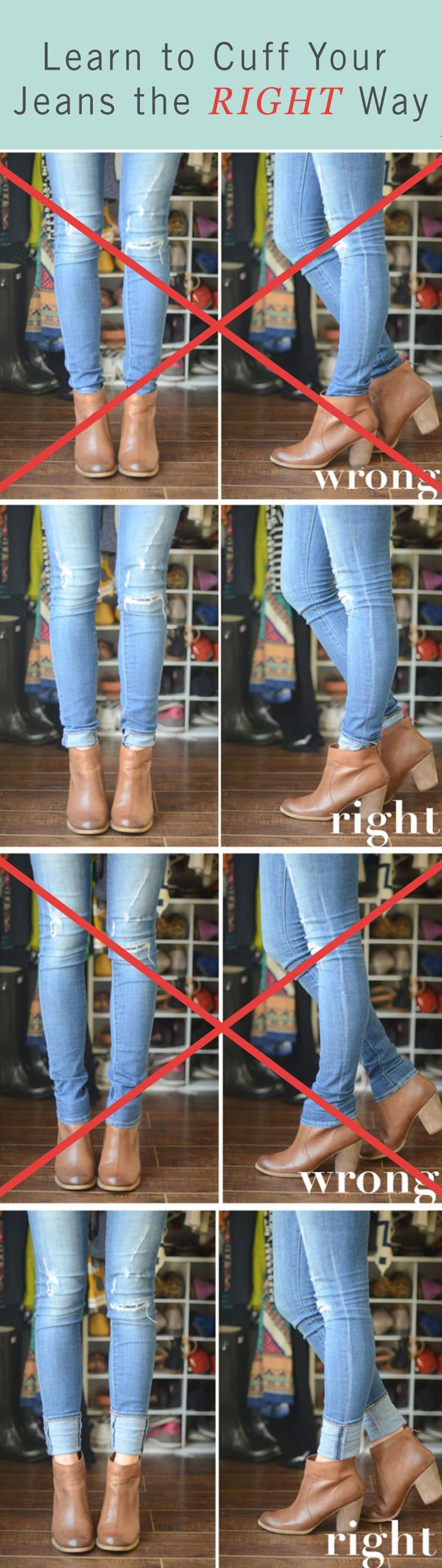 How to wear jeans and ankle boots / booties