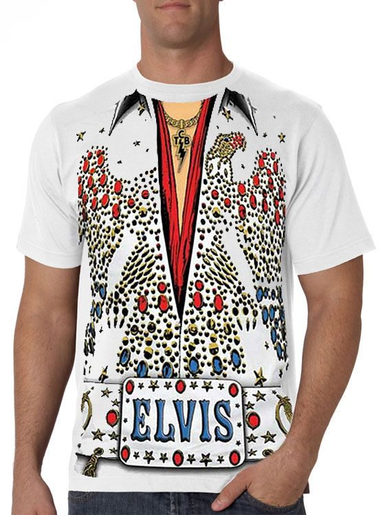 Elvis Presley Tuxedo Costume Men's T-Shirt