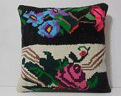 20x20 beach house decor pillow DECOLIC floral sitzkissen orientalisch cream modern rug black home furnishing flower 13801 kilim pillow 50x50