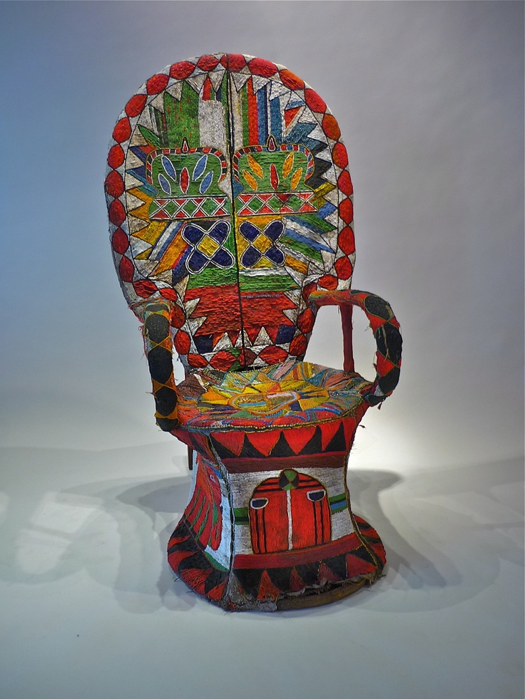 Yoruba tribe of Nigeria beaded throne 44