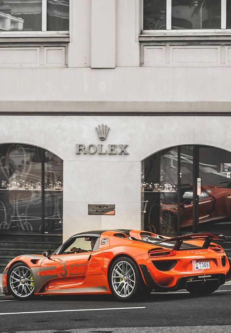Porsche 918 Spyder Lava Orange #porsche