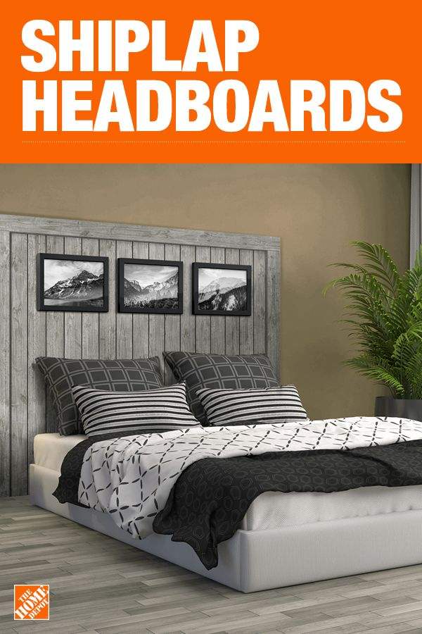 Diy Headboard Made With Faux Shiplap Panels Shiplap Headboard