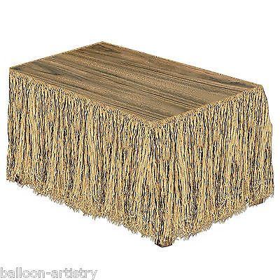 9ft-Tropical-Tiki-Luau-Summer-Party-Natural-Raffia-Grass-Table-Skirt