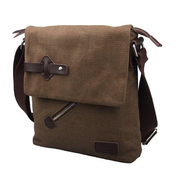 Hot new 2016 fashion casual mens vintage bag men's canvas bags men's messenger bags corssbody shoulder bags wholesale