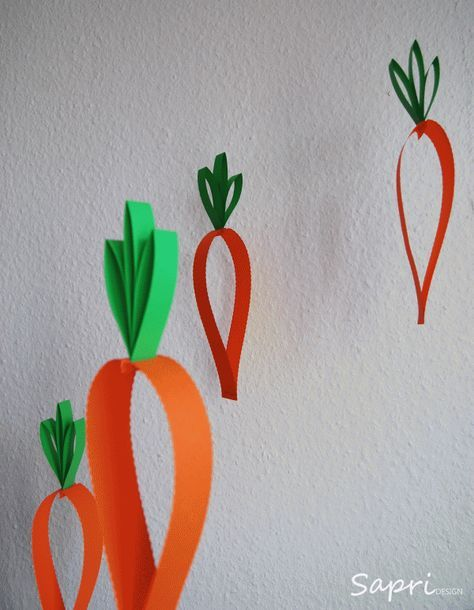 Nicht nur bunte Eier und Osterhasen eignen sich hervorragend als Osterdeko, auch Karotten mit ihrem kräftigen Orange machen was her. Die Anleitung findet ihr auch auf meinem Blog: http://sapri-design.blogspot.de/2013/03/karotten-oster-deko.html