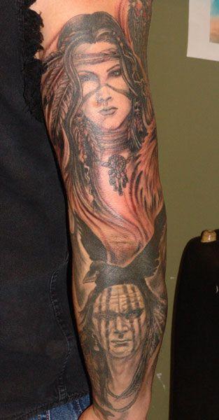 Native American Tattoos. I really like the top half