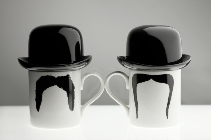 Moustache Mugs by Peter Ibruegger - dalian. Nu ook bij Webshops Only concept store, Vughterstraat 47 Den-Bosch