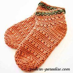 Free Crochet Pattern X Stitch Slipper Socks by Pattern-Paradise