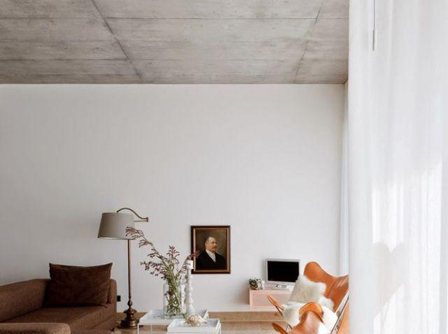10 id es pour d corer son plafond sols et murs pinterest beton cir plafond et beton. Black Bedroom Furniture Sets. Home Design Ideas