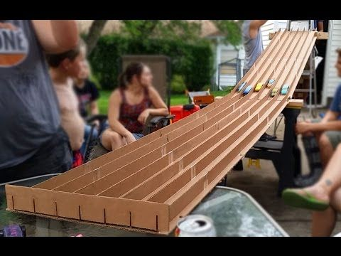 Cardboard Pinewood Derby Track Under $20 Instructions - YouTube