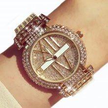 Ladies Luxury Fashion Party Dress Crystal Rhinestone Reloj Women Roman Scale Watch Sparkling Shining Watches