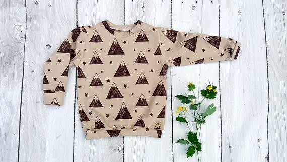 Baby sweatshirt  boy sweatshirt toddler sweatshirt woodland