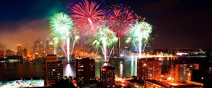 My hometown Fireworks Windsor, Ontario, Canada