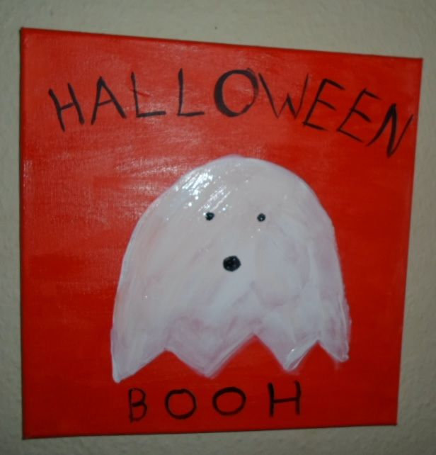 Halloween painted of a ghost.