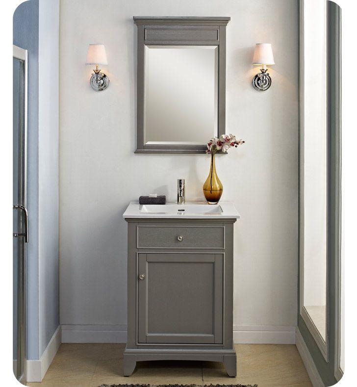1504 V24 Fairmont Designs Smithfield 24 Modern Bathroom Vanity In Medium Gray Time To Re Do