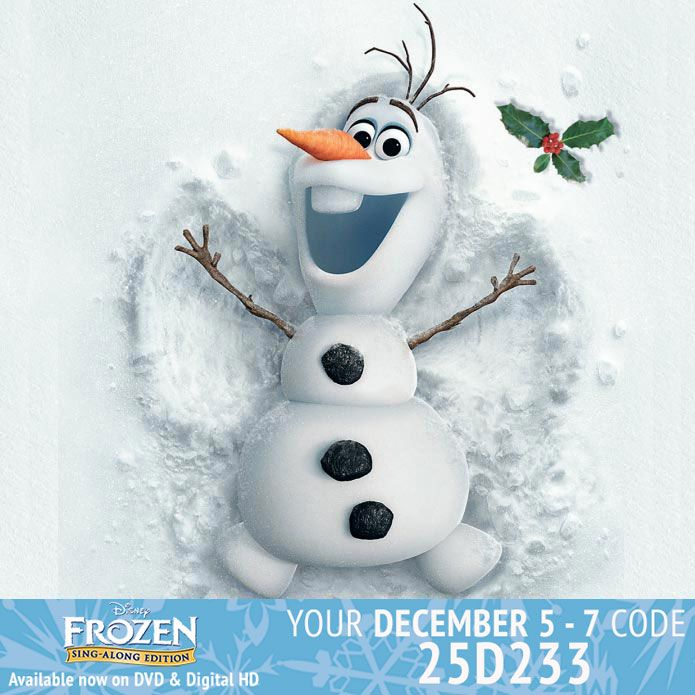 Day 5 - 7: Collect your 15 points for the weekend. Copy the code and enter it at Disney Movie Rewards to collect your Bonus Points. http://www.disneymovierewards.go.com/member/index.htm?cmp=DMR|SYN|PIN|ABCFamily|25D