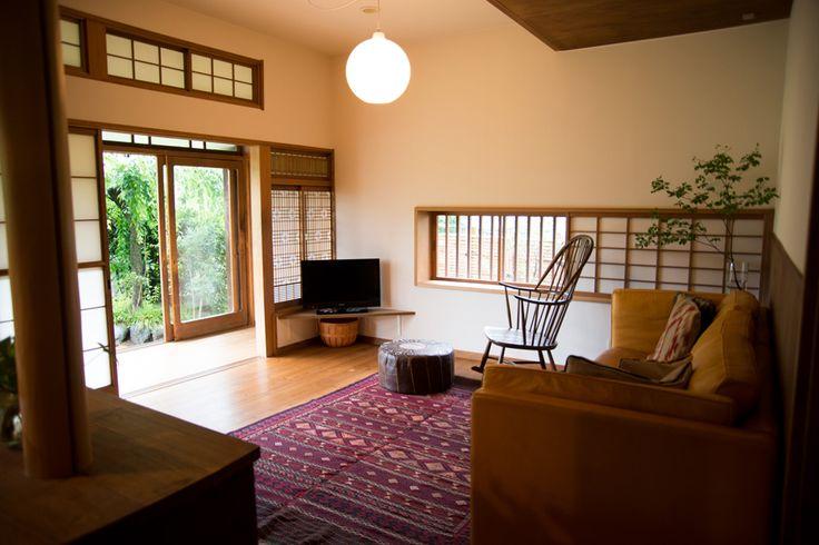 """Family lead a relaxed, living with veranda"" / INTERVIEWS / LIFECYCLING-IDEE-Nao Ogawa's Takahiro Koike's"