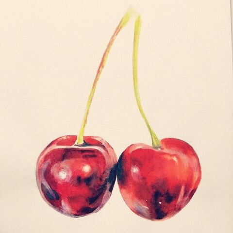 drawing. 2014. cherry watercolor