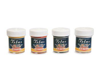 Producto - Pintura para Telas en frascos de 28  - Arte - Escolar - Oficinas - Manualidades: ARTEL