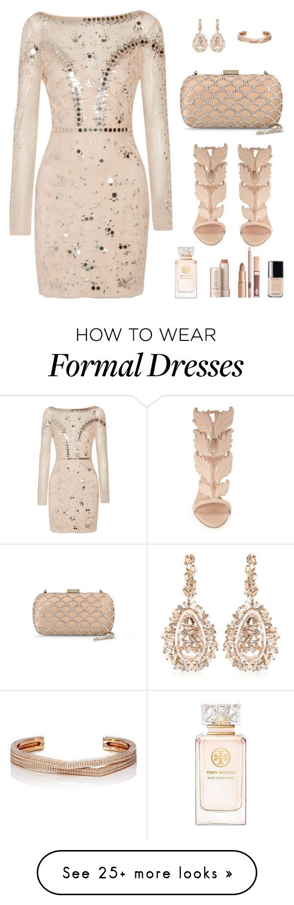 """formal event"" by allyxxoo on Polyvore featuring Giuseppe Zanotti, Temperley London, Chanel, Tory Burch, Fresh, Sergio Rossi, Suzanne Kalan, Repossi, women's clothing and women"