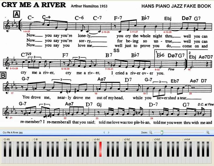 Cry Me A River Piano Jazz 70 Bpm With Chords And Melody Sheet Difficulty Jazz Piano Jazz Jazz Music