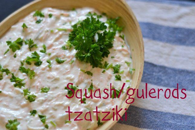 Squash/gulerods-tzatziki