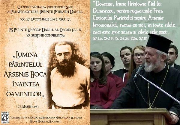 Parintele Daniil Stoenescu despre Parintele Arsenie Boca la Biblioteca Nationala
