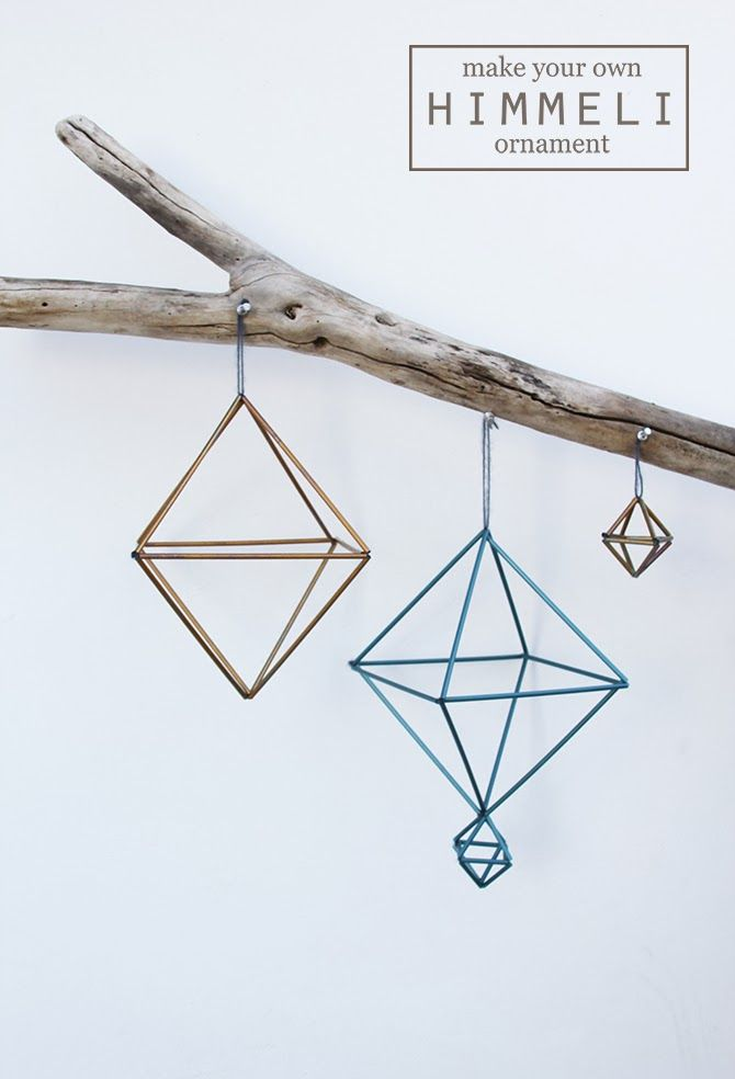 DIY: straw himmeli ornaments