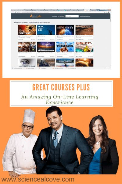 Great Courses Plus Review:  An Amazing On-Line Learning Experience Great Courses Plus has excellent value as a educational video streaming service. I highly recommend this product to anyone who loves to learn. #affiliatelinks #greatcoursesplus #onlinelearning #science #MOOC's