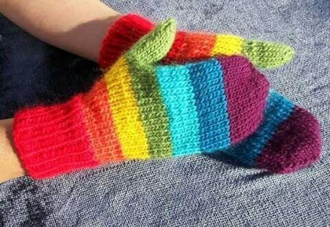 Manopla rayas de colores
