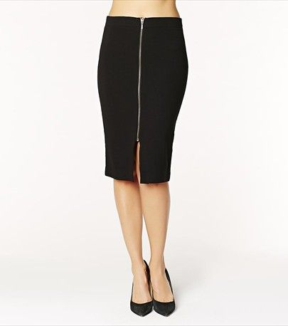 This body con midi skirt will give you both an edgy & feminine style.
