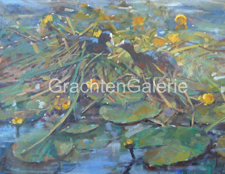 Meerkoetennest | Corry Kooy | Schilderij | Landscape | Art