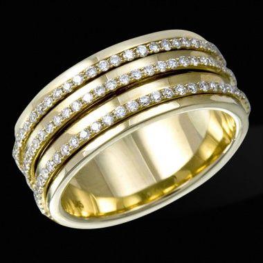 Обручальное кольцо с бриллиантами ED R 16782 YG