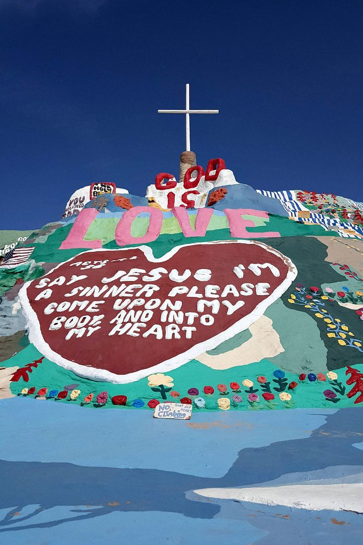 Salvation Mountain Slab City Usa With Images Slab City Salvation Mountain California Travel