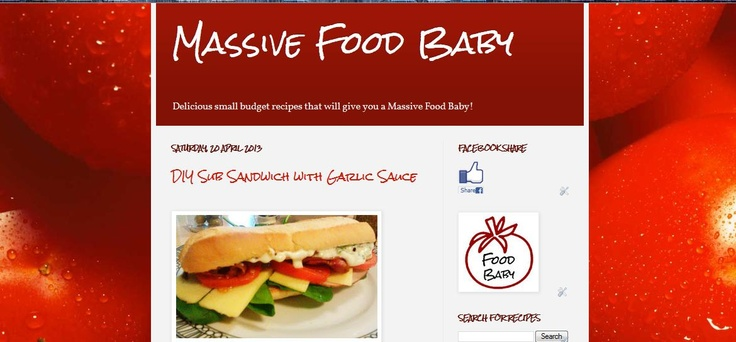 Love healthy food? Want Snacks, home-made fast food or need great Mother's Day idea...check out Massive Food Baby!