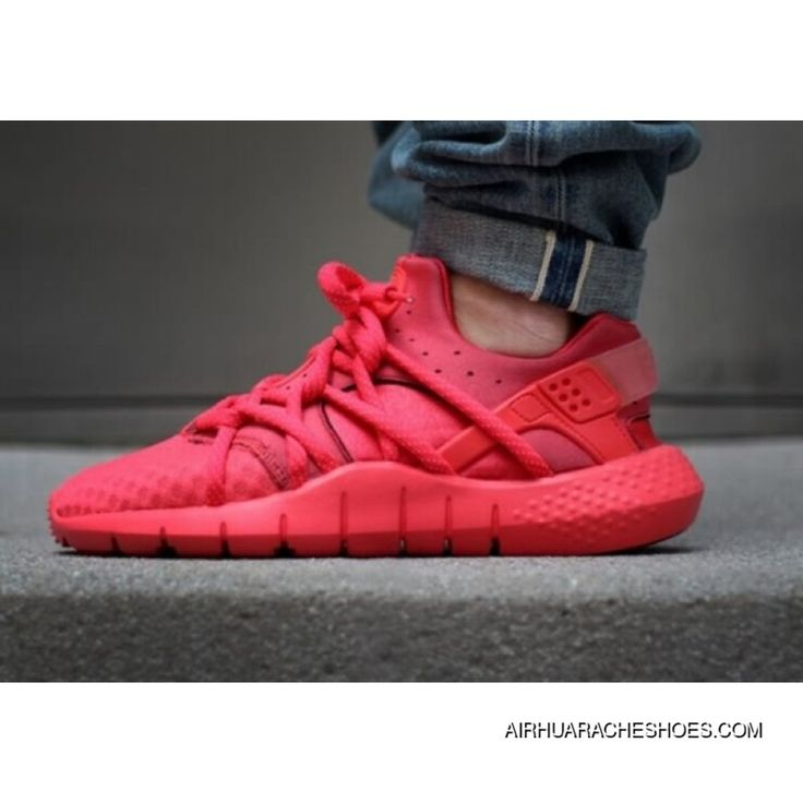 2015 Mens Huaraches Shoes Nike Air Huarache 2 Nm All Red Sneakers New Release Red Sneakers All Red Sneakers Nike Air Huarache